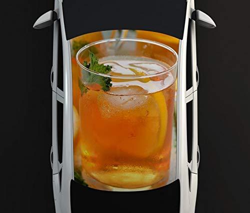 Digitaldruck Autoaufkleber Dach Eistee Tee Getränk Zitrone Küche Cafe Auto Tuning bunt Aufkleber Airbrush Racing Autofolie Car Wrapping CA560, D Aufkleber Größe:135cmx205cm -