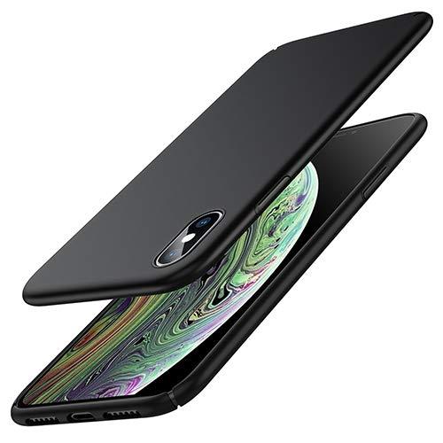 Zinuu iPhone XS Hülle iPhone X Hülle Dünn Matte Schlank Hart Ultra Slim Anti-Scratch PC Anti-Fingerabdruck Leicht Case Kabelloses Aufladen Hülle für iPhone XS iPhone X (Schwarz) MEHRWEG