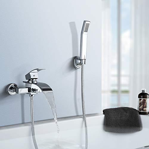 BONADE zeitgenössische Badewannenarmatur aus Messing mit Handbrause, für Badezimmer