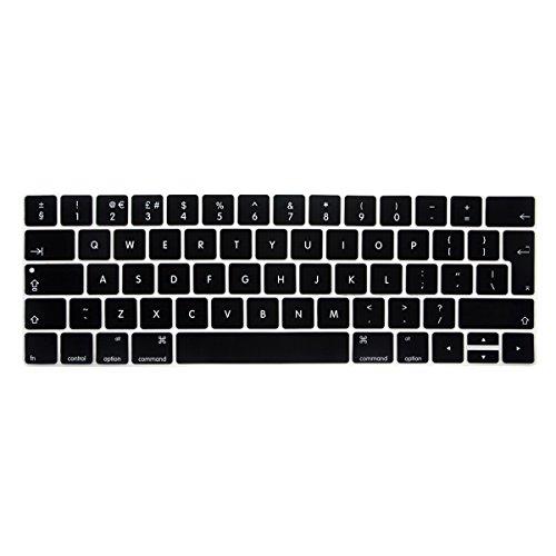batianda EU Version Wasserdicht Ultrathin Silikon Tastatur Cover Skin für Neuestes MacBook Pro 1338,1cm 2016mit Touch Bar & Touch ID Modell: A1706/A1707(schwarz) Touch Pro Silikon