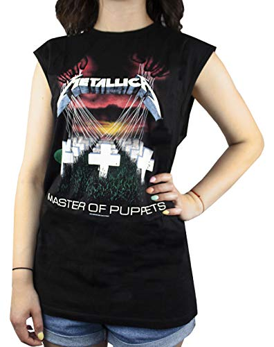 Amplified Metallica Master of Puppets Women's Sleeveless T-Shirt (Large)