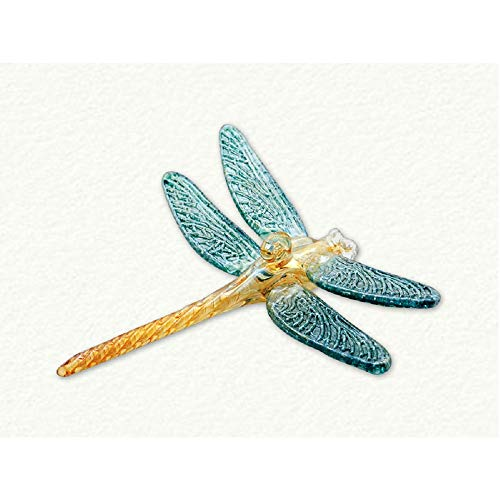 Green and Yellow Dragonfly Egyptian Glass Christmas Tree Ornament Made in Egypt