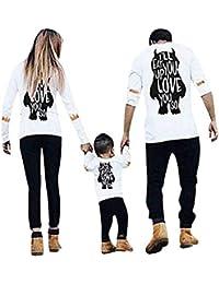 Lenfesh Blusas para Mujer, Madre Padre Niño Ropa Familiar Padres e Hijos Camisetas Impresión del