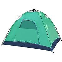AiNaMei Tire la velocidad automática de la tienda de campaña de mosquitos de camping al aire libre, verde, 2 personas