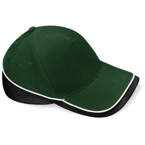 BeechfieldHerren Baseball Cap Bottle/Black/ White Black Brushed Twill Cap