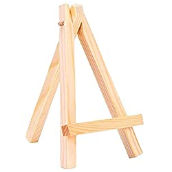 ULTNICE Mini soporte de madera de la caballete de los caballetes 7 * 12cm de la exhibición 12pcs para el sostenedor del arte de la pintura del capítulo de la foto del teléfono