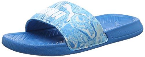 Pantofola In Marmo Puma Unisex Adulto Popcat, Blu 48,5 Eu (blu Danube-puma Bianco 01)