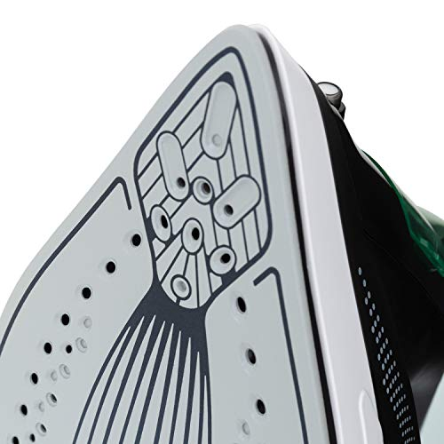 IKOHS LUXOR 2600W - Fer à Repasser Vapeur 2600 W, 190g Vaporisateur, 48g/min Vapeur Continu, Revêtement Ceramic Coat, 30,7x13,0x16,0 mm