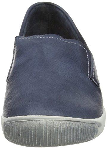 Softinos Damen Ita298sof Washed Slipper Blau (Navy)