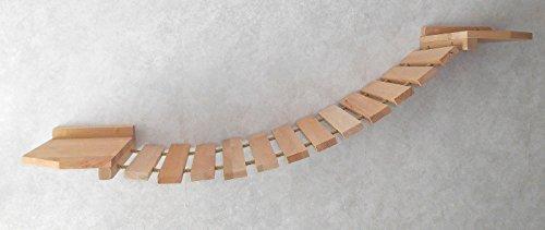 *Katzen Wandpark, handgefertigte Tiermöbel / Luxusmöbel, Katzenmöbel in vielen Ausführungen, Kratzbaum / Katzenbaum für die Wand. Hier: Hängebrücke 90 x 20 cm (122PO6)*