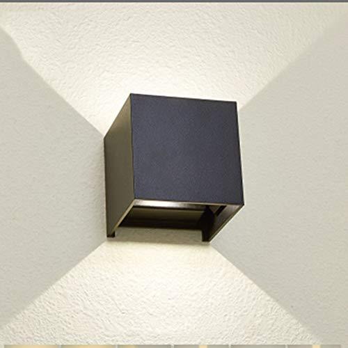 HWCXYMX Outdoor LED Wandleuchte Moderne Einfachheit Platz Garten Wandlampe Wasserdicht IP65 Antiseptisch Aluminium Lampenkörper Wandlicht COB Docht Nachtlicht Energiespar lampe,White