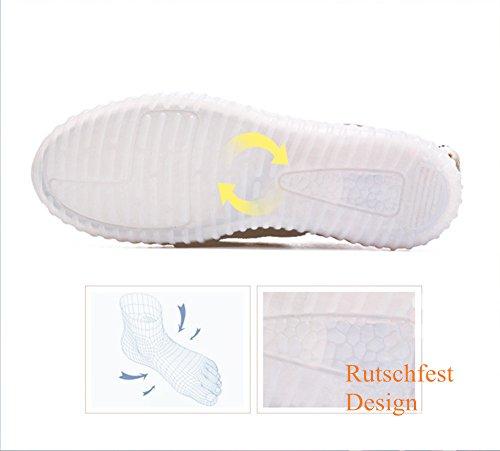 Aidonger Damen Herren Turnschuhe Licht Luminous 7 Farben Unisex USB Lade Outdoor Leichtathletik beiläufige Paare Schuhe Weiß