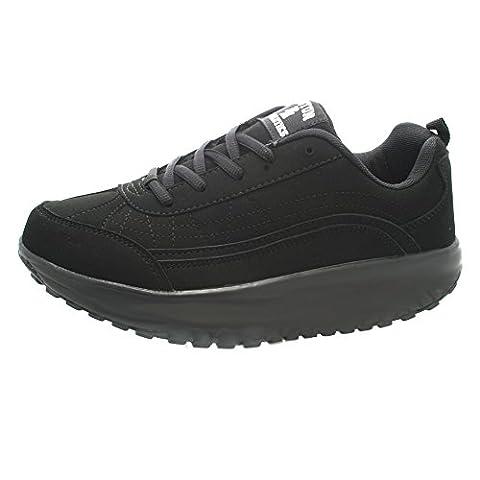 Womens Boston Athletics Black Trim Shape Roller Trainers Shoes Sizes
