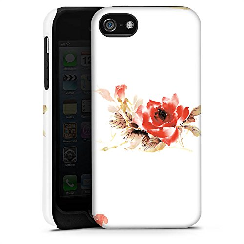 Apple iPhone X Silikon Hülle Case Schutzhülle Blume Muster Bunt Tough Case matt