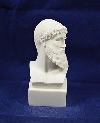 Antiguo dios griego Zeus Busto Rey de Todos los dioses Estatua Escultura