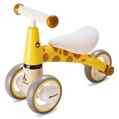 Laufräder Kleinkind-Mini-Balance-Fahrrad - Babyfahrrad für Geburtstagsgeschenk, für 1-jährige Junge Mädchen sicheres Reiten Spielzeug, gelb (Reiten Spielzeug Jungen)