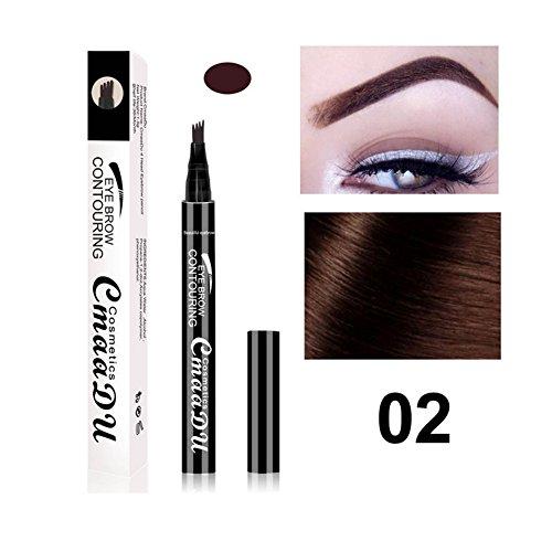 Liquid Eyebrow Pen - BESTGIFT Langlebige Tönung Creme Augenbrauenstift mit vier Tipps Waterproof...