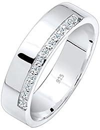 Diamore Damen-Ring 925 Silber Diamant (0.12 ct) Brillantschliff weiß