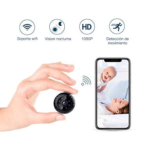 FREDI Cámara espía HD 1080P WiFi Cámara Videocámara