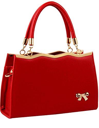 Menschwear Leather Tote Bag lucida PU nuove signore borsa a tracolla Cielo Blu Vino Rosso