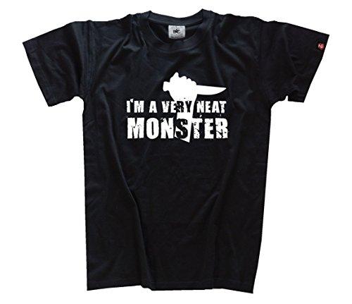 Shirtzshop T Shirt Famous Movie I Am A Very Neat Monster, Schwarz, XXXL (Monster High T-shirts Für Erwachsene)