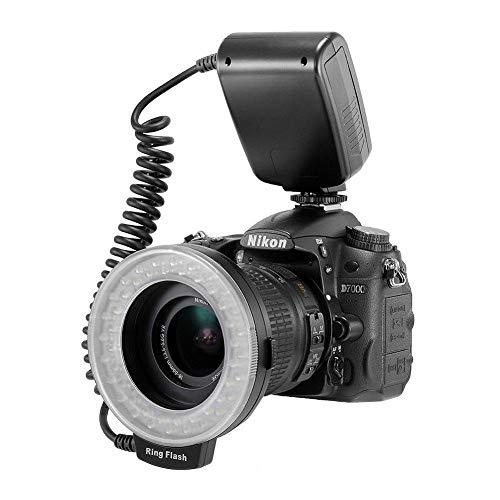 Caiven 48 Makro LED Ringlicht Ringleuchte für Canon Nikon Sony (HDMI) Kamera YouTube