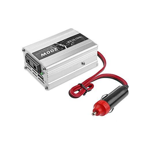 Auto Inverter Konverter Car Power Inverter Converter DC 12V auf AC 220V 200W, mit USB 5V Ausgang Universal Travel Adapter