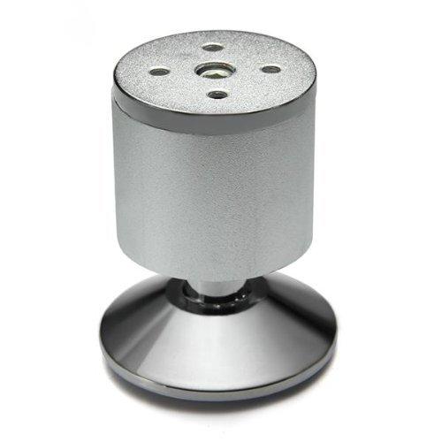 SODIAL (R) 4 pezzi Gambe Piedi lega di alluminio per Guardaroba Armadi Mobili 5x8cm