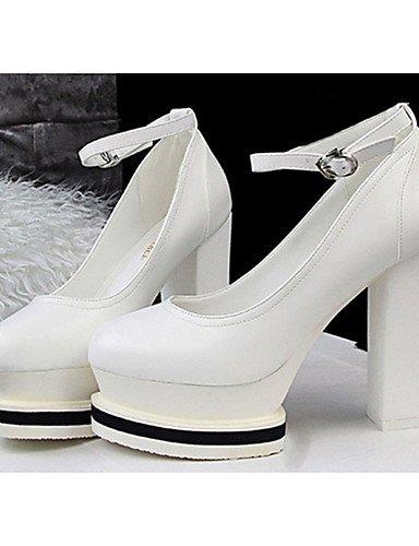WSS 2016 Chaussures Femme-Décontracté-Noir / Blanc-Talon Aiguille-Talons-Talons-Laine synthétique black-us5.5 / eu36 / uk3.5 / cn35