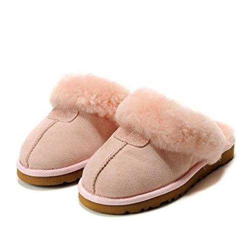 Home Winter Hausschuhe Leder Warm Arch Support Memory Foam Frauen Männer Pelz Haus Indoor Badezimmer Schuhe