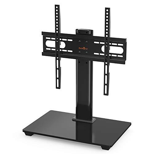 Perlegear TV Standfuß TV Ständer für 37-55 Zoll OLED LCD Plasma Flach & Curved Fernseher oder Monitor bis zu 40kg. Max.VESA 400x400mm