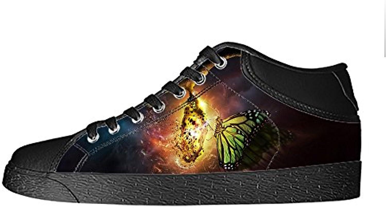 Custom Coloreee Flying Butterfly Wouomo Canvas scarpe I lacci delle scarpe scarpe scarpe da ginnastica Alto tetto | promozione  | Uomini/Donne Scarpa