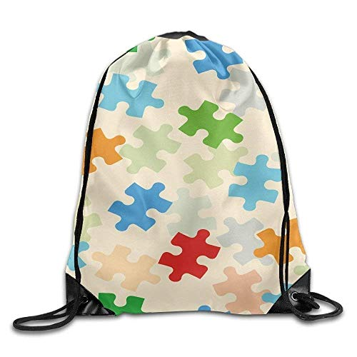 elzug, Sportrucksack, Reiserucksack, Colorful Puzzle Game Unisex Outdoor Rucksack Shoulder Bag Sport Drawstring Backpack Bag ()