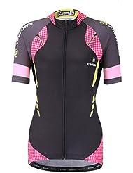 YOUJIA Maillots de ciclismo para mujer, Lunares Camiseta de Manga Corta - Deportes Transpirable
