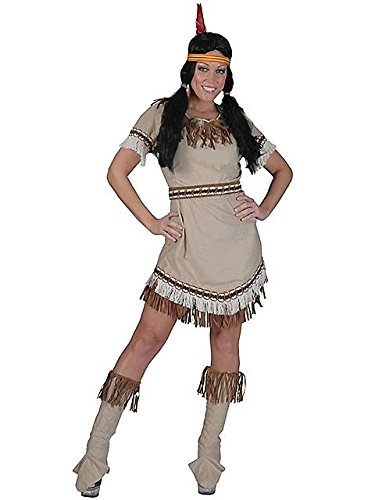 Indianerin Sioux Kostüm Damen Gr. 44 46 (Kinder Indian Girl Kostüm)