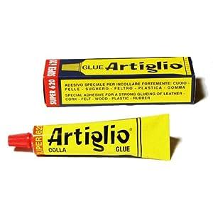 ARTIGLIO Colla Adesivo Speciale per Cuoio, Pelle, Sughero, Feltro, Legno, Plastica e Gomma. Tubetto 150ml. 41Zd7wGd78L. SS300