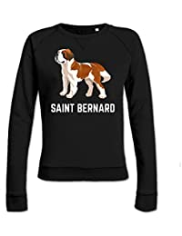 Saint Bernard Illustration Women's Sweatshirt by Shirtcity