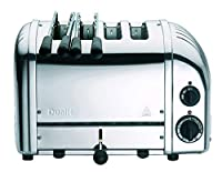 Dualit New Gen 4 slice toaster (2+2) with Bonus 2 sandwich cages, 120 volts