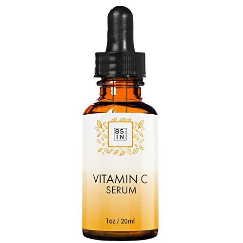 8 Sin Beauty | Vitamin C Serum | Gesichtsserum | Anti Aging & Anti Falten | Hyaluronsäure + Vitamin E | Feuchtigkeitsserum | 20ml