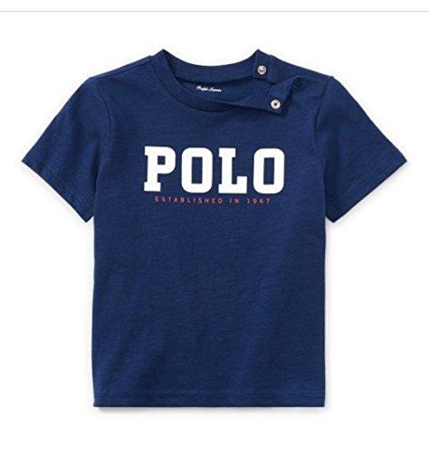 Ralph Lauren Baby Jungen (0-24 Monate) T-Shirt Blau Navy Gr. 24 Monate, Navy