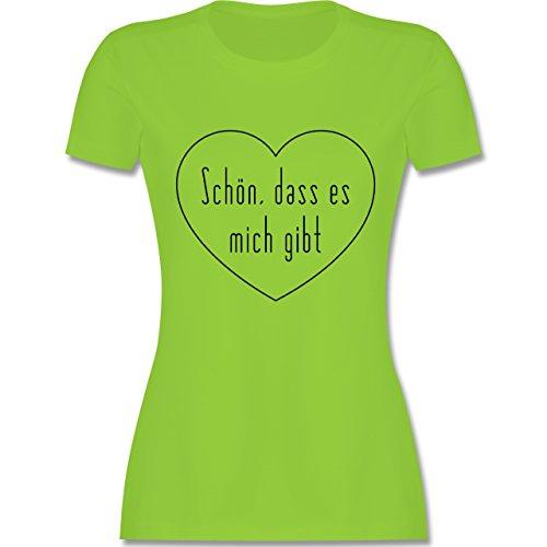 Statement Shirts - Schön, dass es mich gibt - tailliertes Premium T-Shirt mit Rundhalsausschnitt für Damen Hellgrün