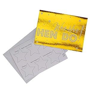 Neviti 776148 Woo Hoo - Tarjetas de consejos para despedida de soltera, color dorado, 14.7 x 10.5 x 0.1