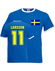 Henrik Larsson Sweden Ringer Tee (blue)