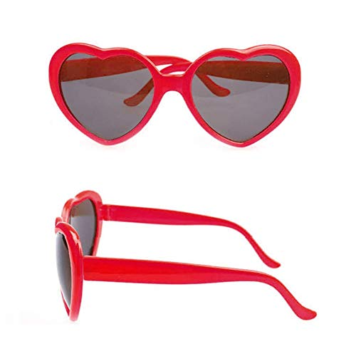 cuffslee 2 pcs Kunststoffrahmen Harz Objektiv Sonnenbrille Frauen herzförmige Sonnenbrille Nette stilvolle Sonnenbrille für Erwachsene Frauen