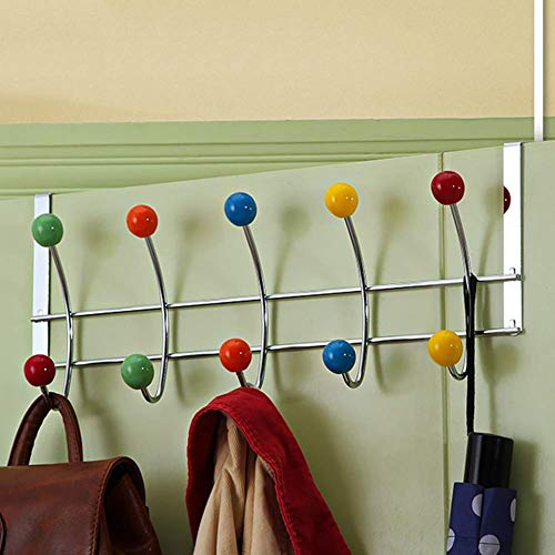 Garderobenständer Wall Mounted Kleiderablage Aufhänger Wandhaken Kleiderhaken Hutständer Zehn Perlen Lager Türhaken,2 Stücke (Size : 44X18X4.6CM)
