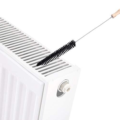 AIEVE Cepillo del radiador, mango largo y cepillo del radiador flexible para limpiar el radiador, negro...