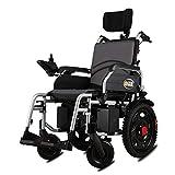 ACEDA Elektrischer Rollstuhl Mit Kopfstütze, Intelligente Automatische Elektrorollstuhl,Faltbar Tragbare,Sitzbreite 46Cm, Frei-Reiten, Rollstuhl(Kann 120Kg Unterstützen)