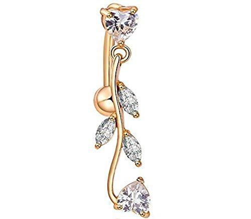 XinGe ciondola Ombelico Forma anelli piercing inversione Cuore sexy ombelico anelli