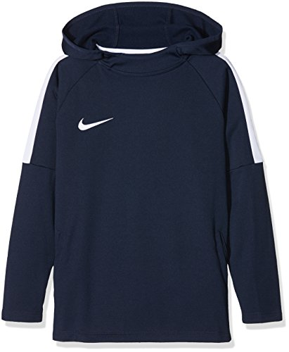 Nike felpa con cappuccio e dry academy, ragazzo, dry academy, obsidian/white/(white), l