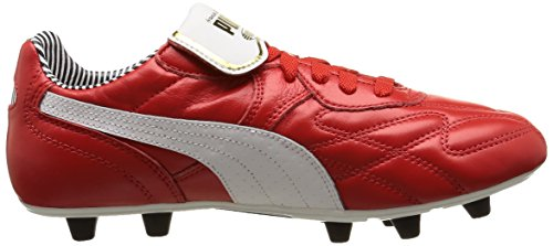 Puma King Top Stripe Di F, Chaussures de football homme Rouge (High Risk Red/White/New Navy)